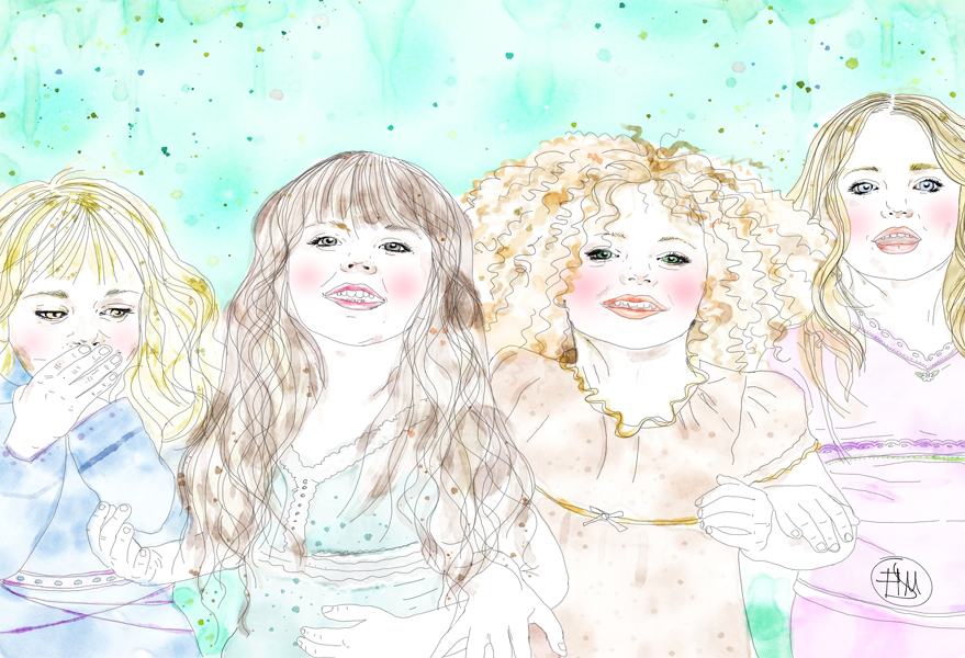 children-portraits-happiness-friendship-francesca-di-marco-artist-art