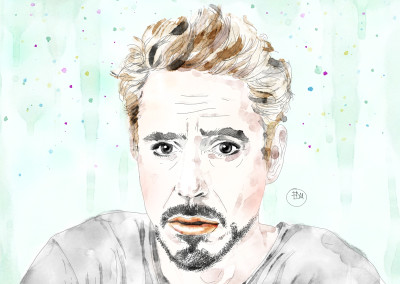 best-robert-downey-jr-portrait-art-watercolor-artist-francesca-di-marco-w-p